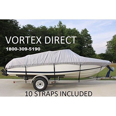 VORTEX HEAVY DUTY VHULL FISH SKI RUNABOUT COVER FOR 14 15 16' BOAT, BEST AVAILABLE COVER (Best Fish And Ski Boats)