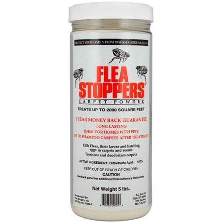 Flea Stoppers Carpet Powder 5#- Guaranteed To Control (Flea Control Carpets)