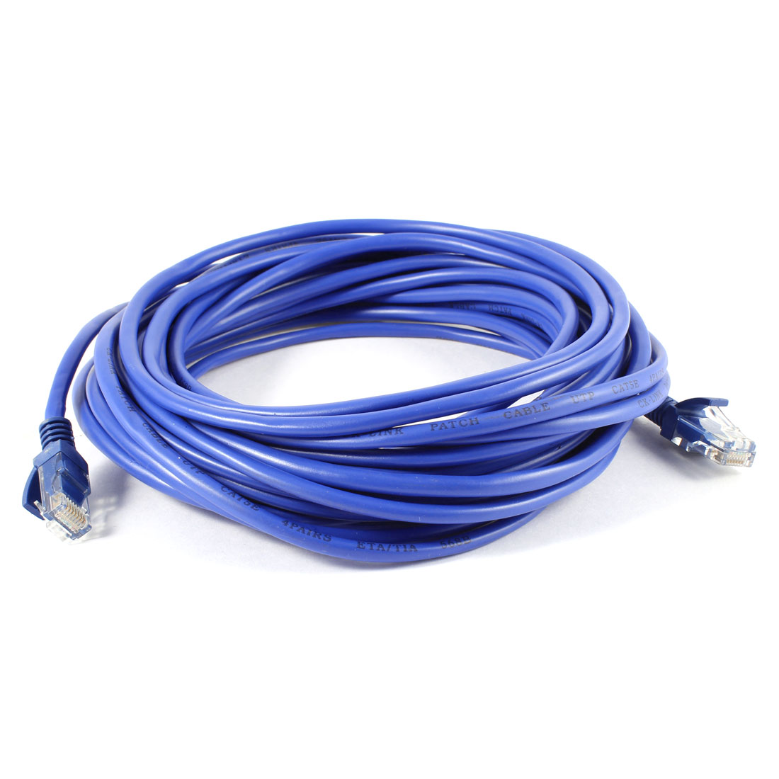 RJ45 Male CAT5E LAN Network Ethernet Cable Wire Cord Blue 10M Length