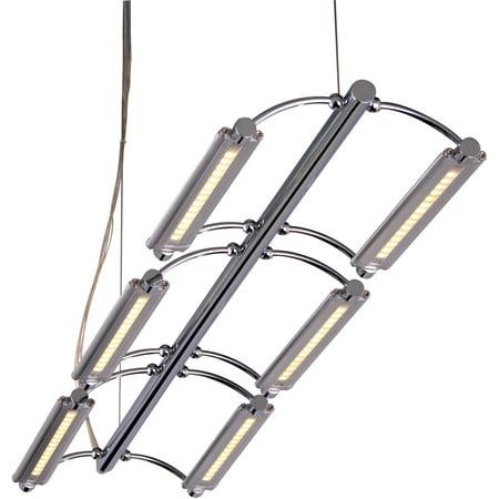 ET2 Lighting E20941-10 Helix 6-Light LED Pendant Satin Nickel