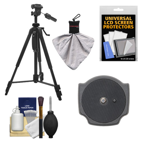 "Precision Design PD-58PVTR 58"" Photo/Video Tripod with Case with Extra Quick Release Plate + Accessory Kit for Digital SLR Cameras"