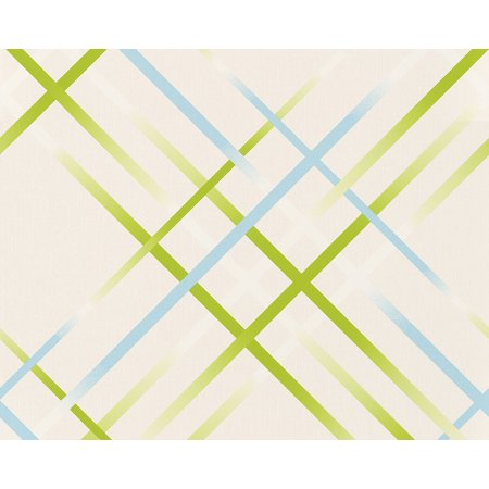 SWING LINE - Plain Diagona Circles For Young Living White Wallpaper Sample - image 1 de 1