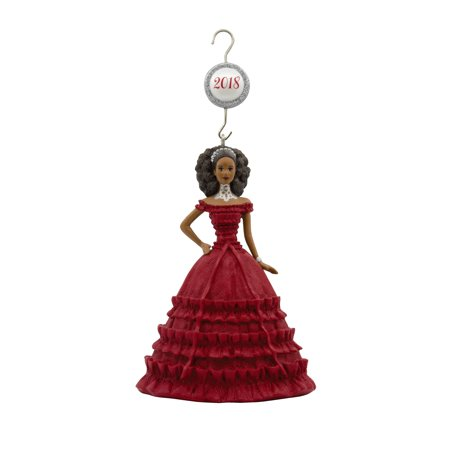 Hallmark Mattel African-American Holiday Barbie 2018 Christmas Ornament
