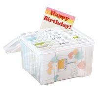 Product Image Plastic Greeting Card Storage Organizer With Dividers