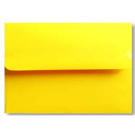 Free Shipping 50 Bright Yellow Square Flap A1 Envelopes (3-5/8 X 5-1/8) for 3-3/8 X 4-7/8 Response Enclosure Invitation Announcement Wedding Shower Communion Christening Cards By Envelopegallery