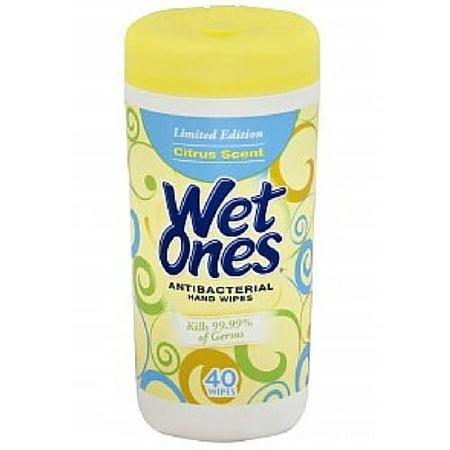 Wet Ones Moist Wipes Antibacterial (Wet Ones Moist Towelette, Antibacterial, Citrus, Canister, 40 Count )