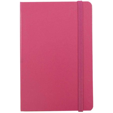 General Journal Paper (JAM Paper Hardcover Notebook with Elastic Band, Large, 5 7/8 x 8 1/2 Journal, Pink Berry, 70 Lined Sheets, Sold Individually)