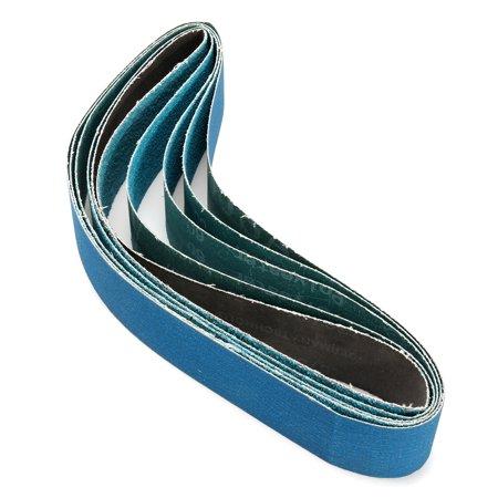36 Inch 40, 60, 80, 120 Grits Metal Grinding Zirconia Sanding Belts 5 Pack - image 3 of 5