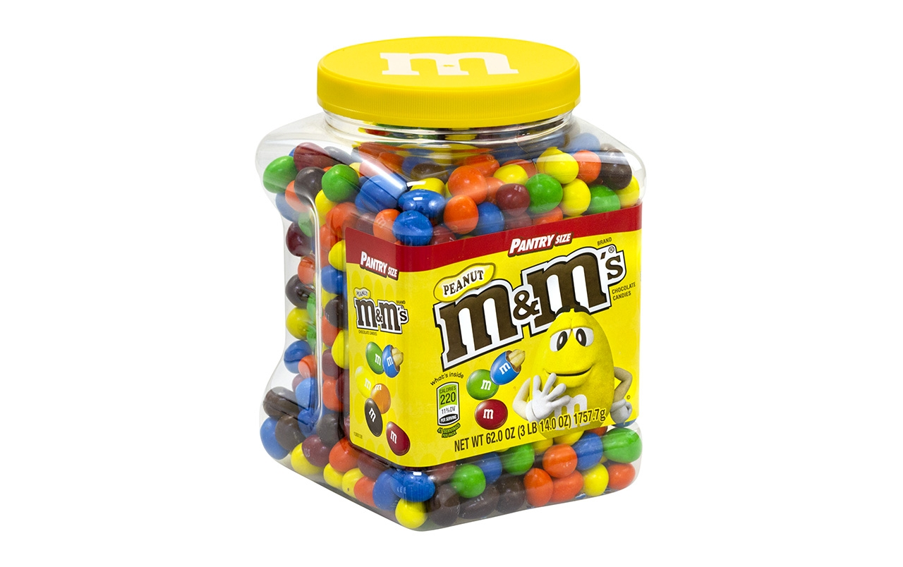 M&M's Milk Chocolate Peanut Candy, 62 Ounce Jar