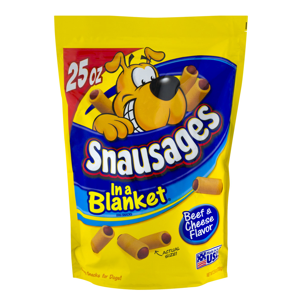 Snausages in a Blanket Beef & Cheese Flavor, 25.0 OZ