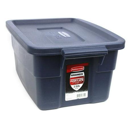 Rubbermaid Roughneck 3 Gallon Box  Dark Indigo Metallic