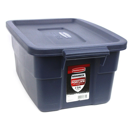 Rubbermaid Roughneck 3-Gallon Box, Dark Indigo Metallic