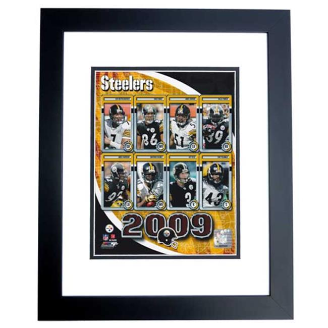 Pittsburgh Steelers 2009 Team Collage Unsigned 8X10 Inch Photo Black Custom Frame