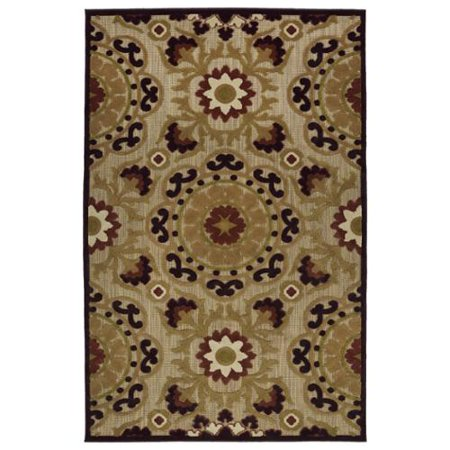 Indoor Outdoor Luka Brown Suzani Rug 8 8 X 12 0 Walmart Com