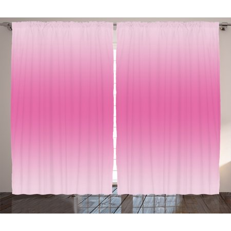 Cotton Modern Curtain - Ombre Curtains 2 Panels Set, Fairytale Cotton Candy Inspired Girly Design Room Decorations Digital Modern Art Print, Window Drapes for Living Room Bedroom, 108W X 84L Inches, Pink, by Ambesonne