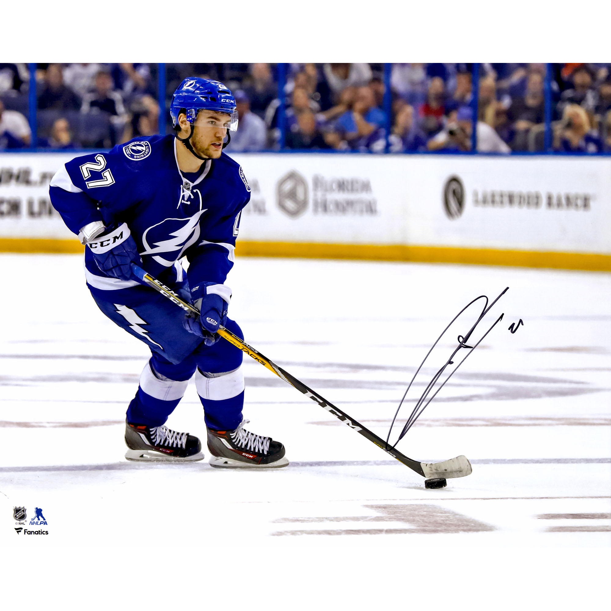 Jonathan Drouin Tampa Bay Lightning Fanatics Authentic Autographed 16'' x 20'' Blue Jersey Skating Photograph No Size by Fanatics Authentic