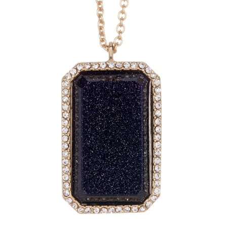 Kate Spade New York Women's Night Sky Jewels Emerald Cut Pendant Necklace - Sandstone Blue (M Necklace Kate Spade)