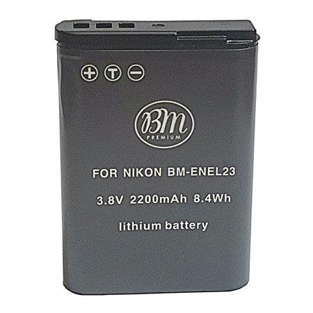 BM Premium EN-EL23 Battery for Nikon Coolpix B700, P600, P610, P900, S810c Digital Camera - image 2 of 3