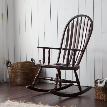 Belham Living Windsor Indoor Wood Rocking Chair – Espresso - Walmart ...