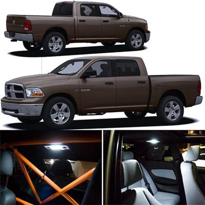 Dodge Ram Xenon White Interior Smd Led Lights Package Kit 2009 2013