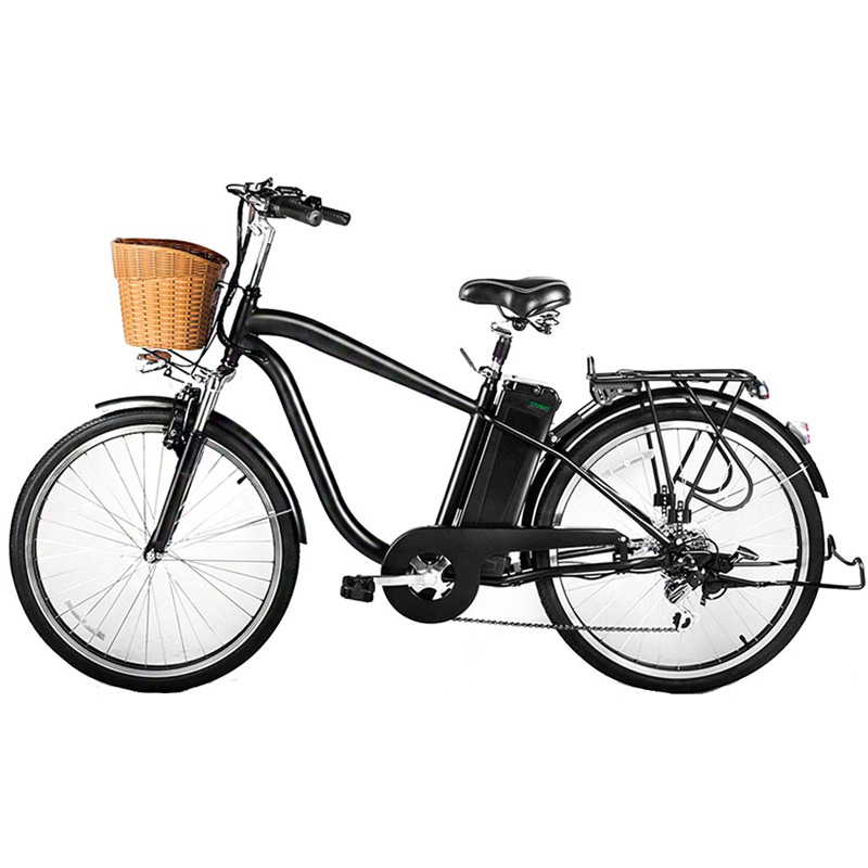 NAKTO/SPARK 26'' City Electric Bicycle Ebike with 36V 10Ah Lithium Battery for Men (Black)