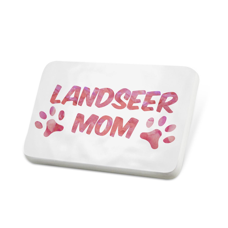 Porcelein Pin Dog & Cat Mom Landseer Lapel Badge – NEONBLOND
