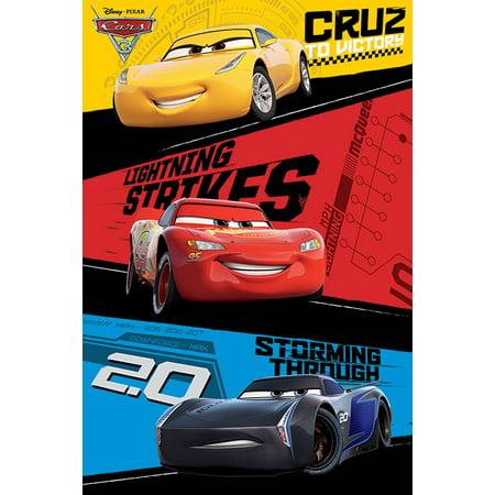 Cap Poster Print (Cars 3 - Pixar / Disney Movie Poster / Print (Trio - Lightning McQueen, Jackson Storm, Cruz Ramirez))