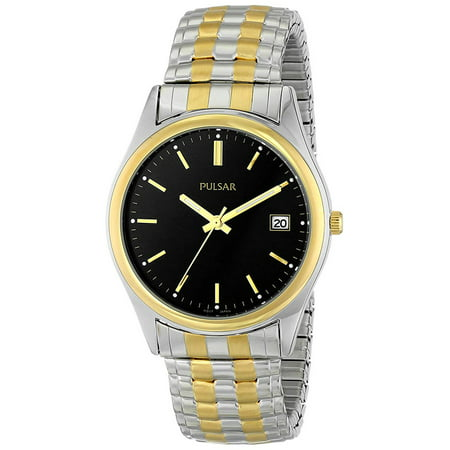 Men's Quartz Two Tone Stainless Steel Expansion Watch PXH428 ()