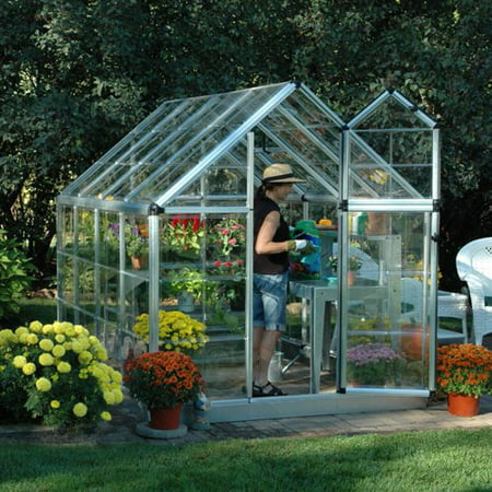 Palram Snap & Grow 6' x 8' Hobby Greenhouse, Silver