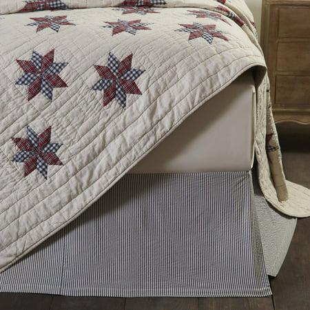 Cotton White Tan Americana Bedding Lincoln Cotton Split