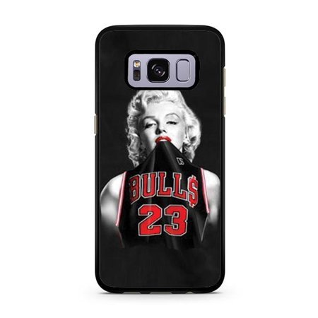 new products c318e 39d54 Marilyn Monroe Michael Jordan Jersey Galaxy S8 Plus Case - Walmart.com