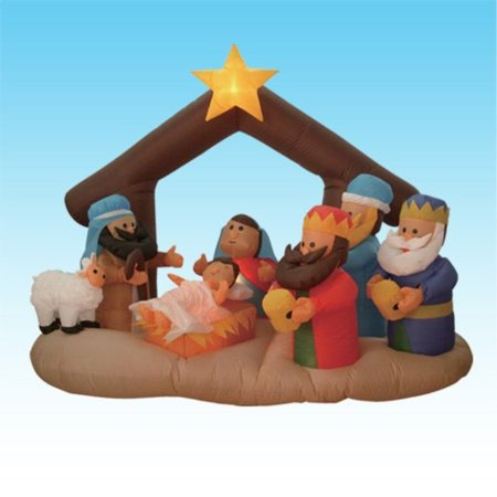 Christmas Three Kings - 6 Foot Christmas Inflatable Nativity Scene with Three Kings Party Decoration