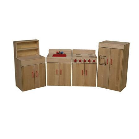 Wood Designs Heritage 4 Piece Maple Kitchen Appliance Set