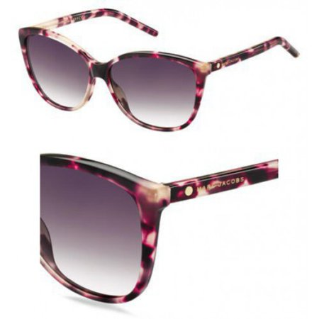 Marc by Marc Jacobs MARC69S Cateye Sunglasses, Pink Havana/Mauve Gradient, 58 (Tween Sunglasses)