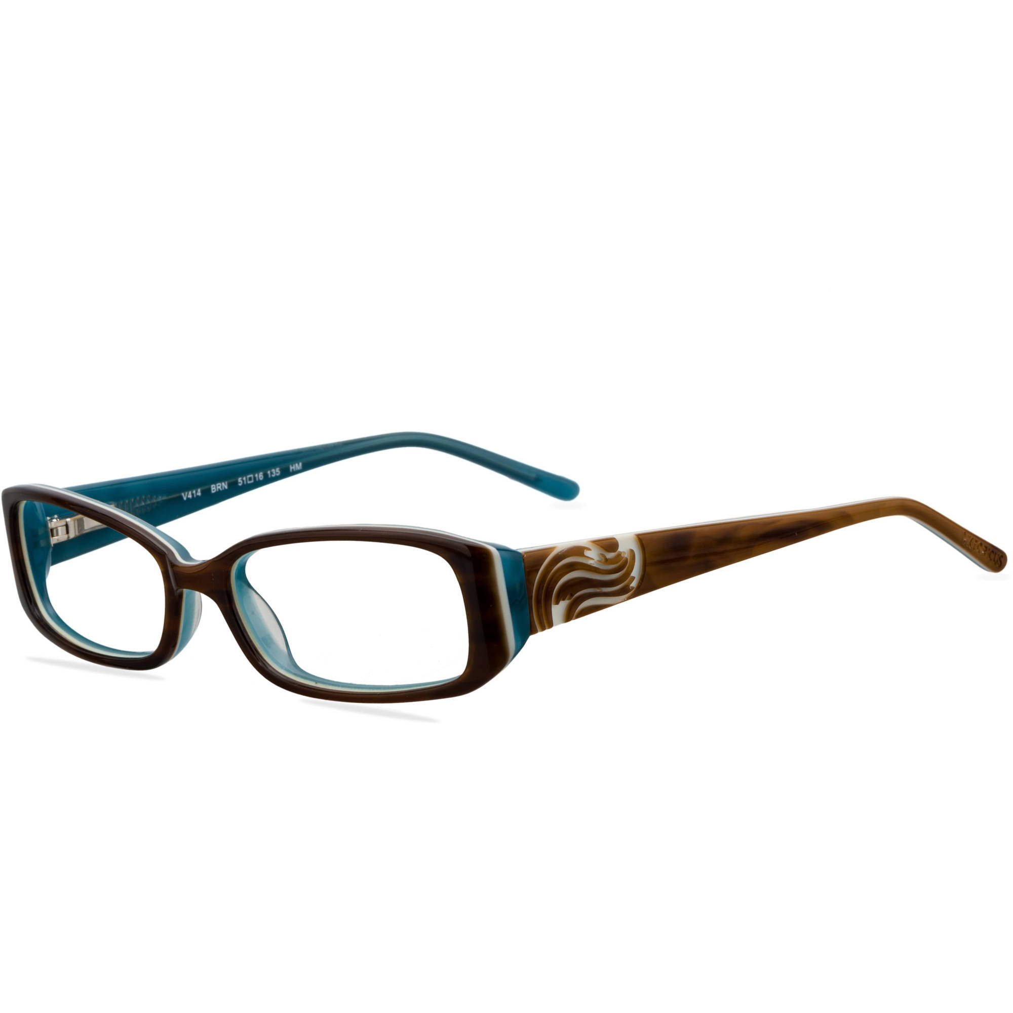Victorious Womens Prescription Glasses, V414 Brown