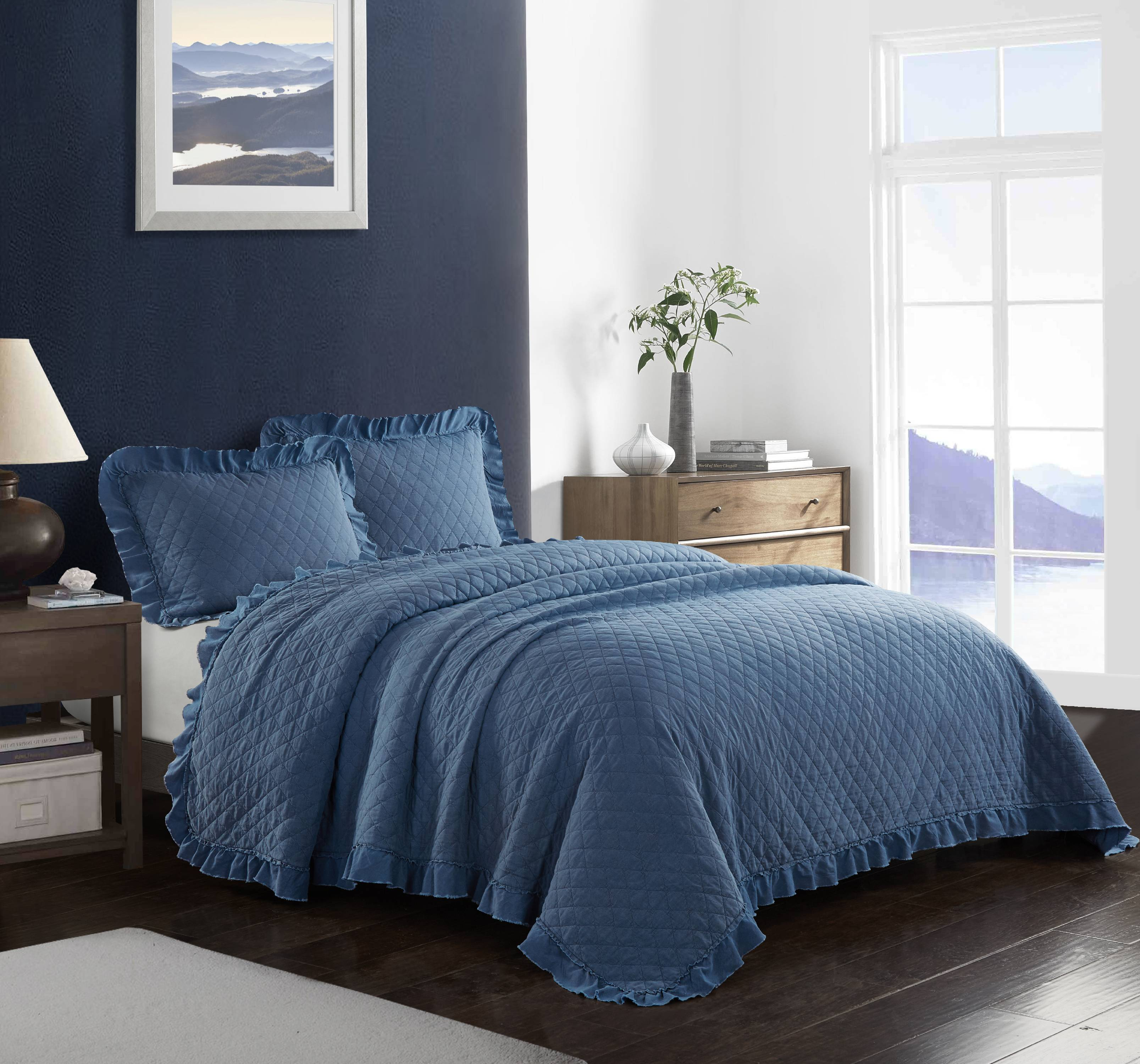 Better Homes & Gardens Acid Wash Ruffle Quilt Set