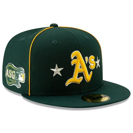 Oakland Athletics New Era 2019 MLB All-Star Game On-Field 59FIFTY Fitted Hat - (Best Mtb Helmet Light 2019)
