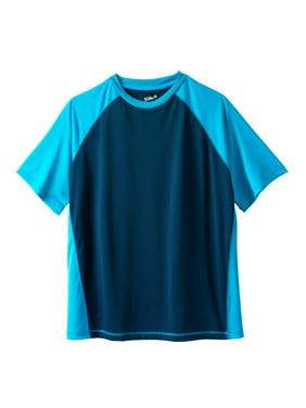 KingSize Men's Big & Tall Raglan Sleeve Swim Shirt Rash Guard