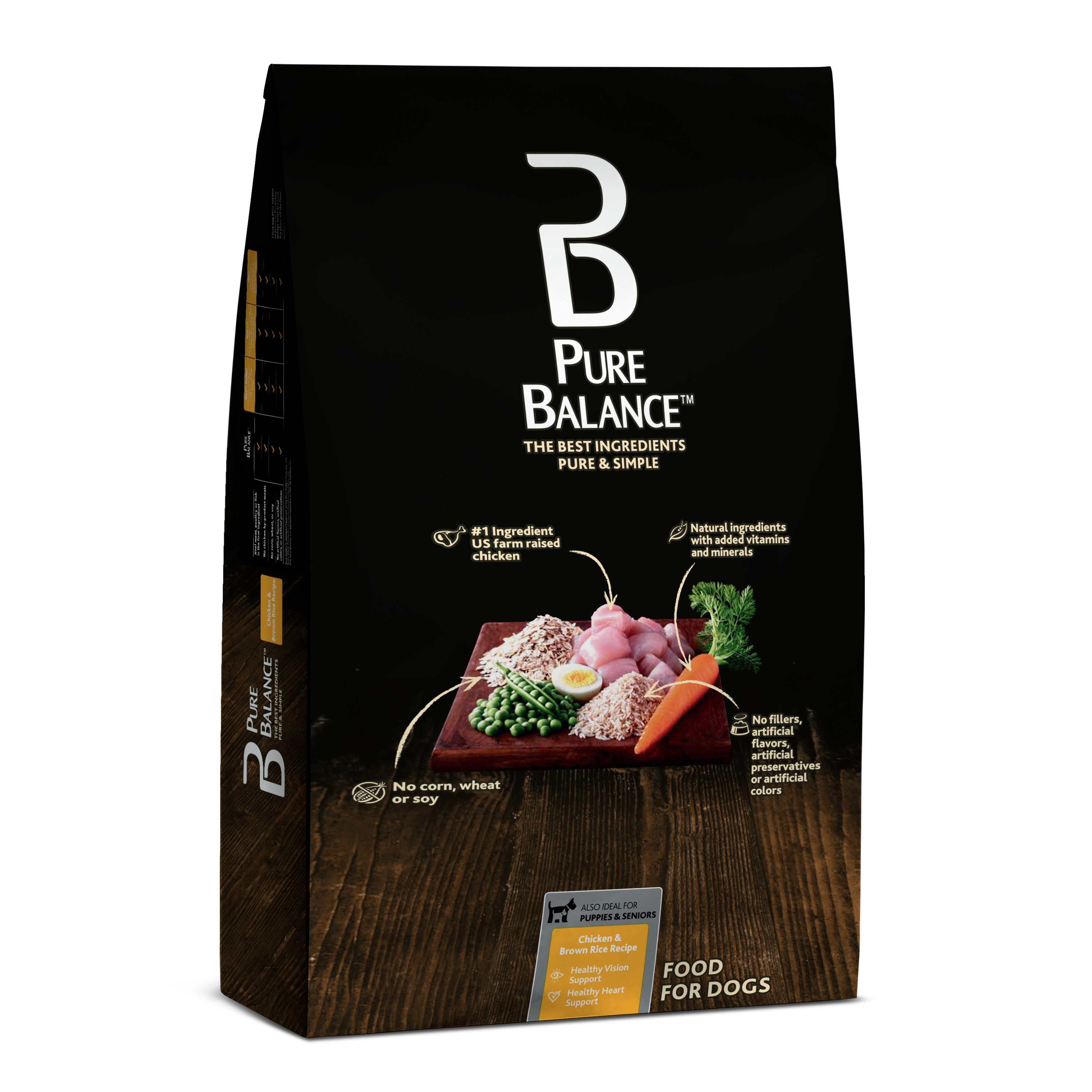Pure Balance Chicken & Brown Rice Recipe Food for Dogs 30lbs