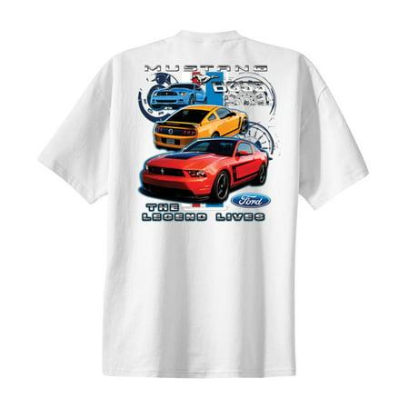 302 Mustang Engine - Ford Mustang Boss 302 T-shirt Legend Lives Design