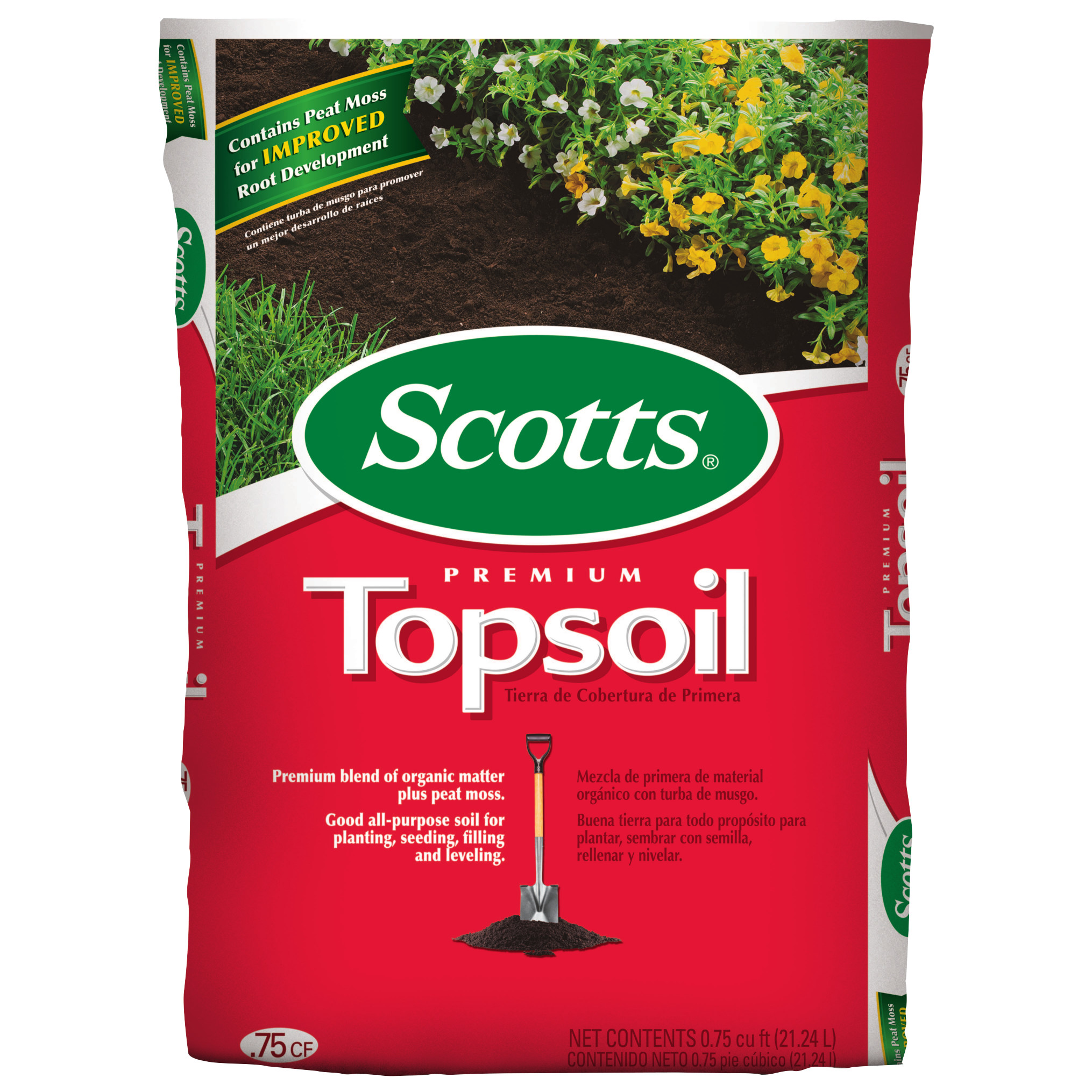 Scotts Premium Topsoil 0 75 Cu Ft