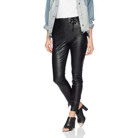 Women's Envy Lace-Up Faux Leather Skinny Pants 2