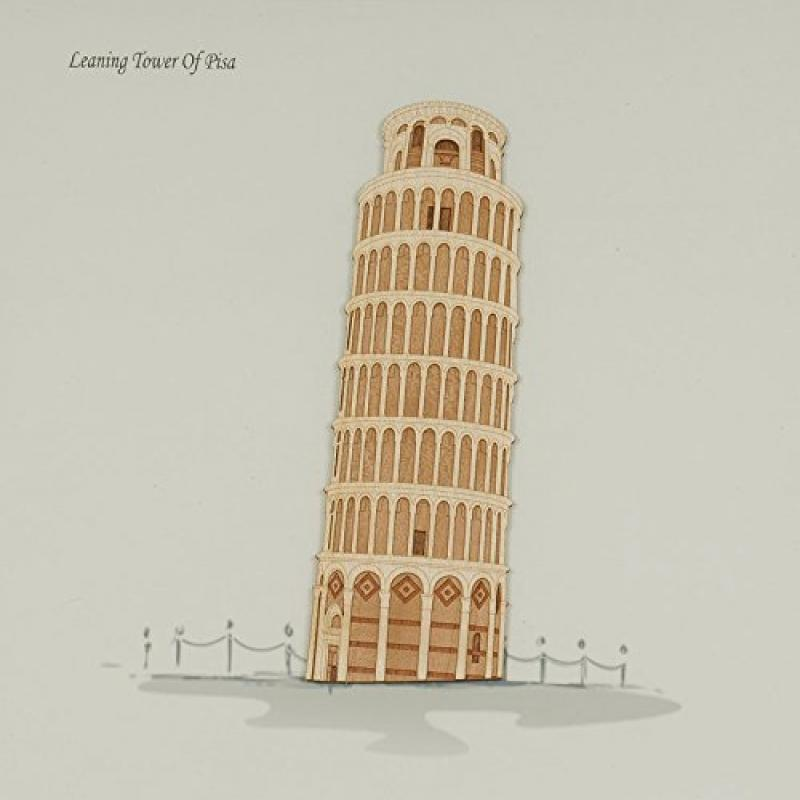Old Modern Handicrafts Leaning Tower of Pisa Collectible by