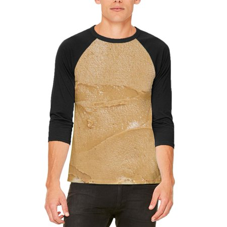 Halloween Peanut Butter PB Sandwich Costume Mens Raglan T Shirt - Peanuts Halloween Settings