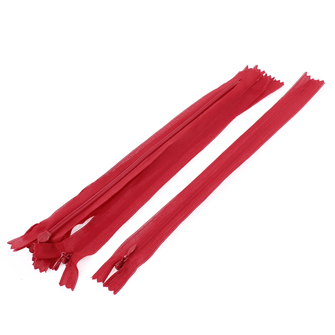 Dress Pants Closed End Nylon DIY Zippers Tailor Sewing Craft Tool Red 25cm 5 Pcs