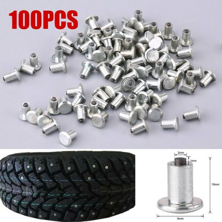 "Image of ""100pcs 9mm/0.35"""" Wheel Tyre Stud Screws Snow Tire Spikes for Car Auto SUV ATV"""