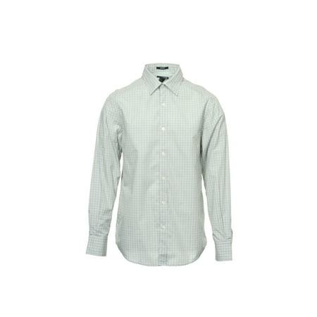 Liz Claiborne Blue Plaid Button Down Shirt Sport , Size Medium