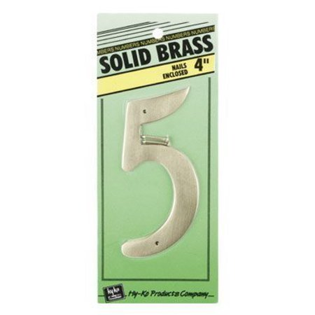 4 Solid Brass Decorative House Numbers, 4 Solid Brass Number 5 By HYKO PRODUCTS Ship from US 4 Decorative Brass House