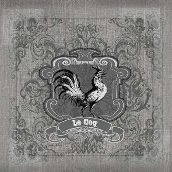 Filigree Rooster Canvas Art - Walter Robertson (24 x 24)