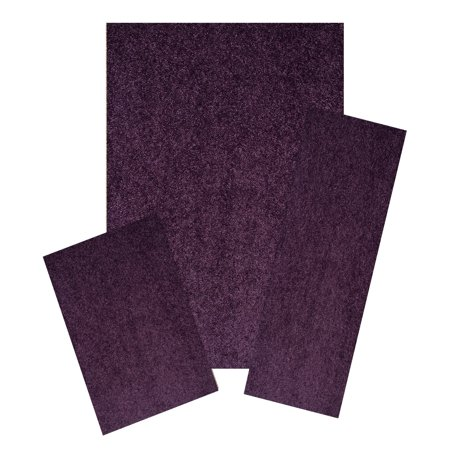 Home Queen Solid Color Area Rug Purple - 8'x10' 2'x8' 2'x3' Set ()